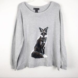 Lane Bryant Plus Size Fox Sweater